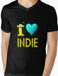 I LOVE INDIE MUSIC Mens V-Neck T-Shirt