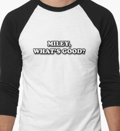 MILEY, WHATS GOOD? - Blck&wht Men's Baseball ¾ T-Shirt