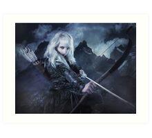 Elven warrior girl archeress Art Print