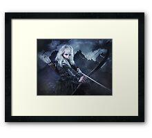 Elven warrior girl archeress Framed Print