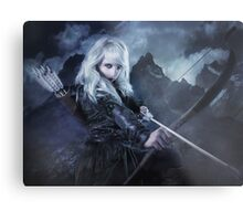 Elven warrior girl archeress Metal Print