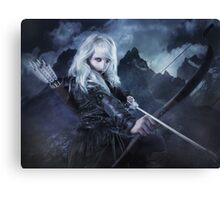 Elven warrior girl archeress Canvas Print