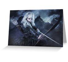 Elven warrior girl archeress Greeting Card