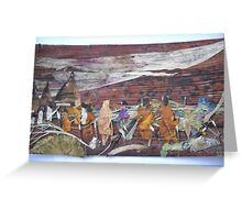 Pilgrims on way to Holy place  Greeting Card