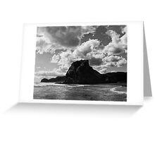 lion rock at piha redux Greeting Card