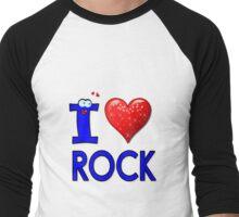 I LOVE ROCK Men's Baseball ¾ T-Shirt