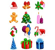 Christmas icons Photographic Print