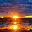 Ball of fire..Port Noarlunga Beach by Ali Brown