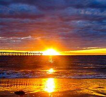 Ball of fire..Port Noarlunga Beach by Ali Brown