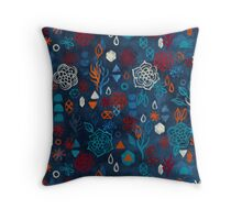 Earth, Water, Fire, Air - a watercolor pattern Throw Pillow