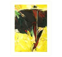 Woman with a Long Cigarette Holder Art Print