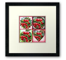 Red Berries Fancy Shapes Collage Framed Print