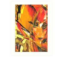 Red-Haired Beauty Art Print