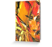 Red-Haired Beauty Greeting Card