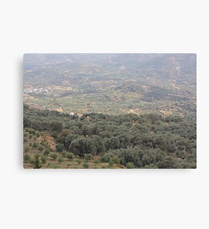 Belvedere - southwestern foothills of Mount Ida (Psiloritis)  in Create . Greece my Love    .♡‿♡   . by Brown Sugar . Canvas Print