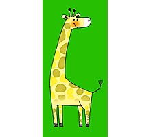 Cute giraffe cartoon Photographic Print