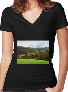 Colours of Tuscany - Italy Women's Fitted V-Neck T-Shirt