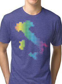 Pixel_Italy_Rainbow Tri-blend T-Shirt