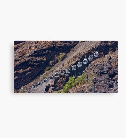 A cableway on Santorini . Greece. by Brown Sugar. Tribute to Michalis Tzouganakis - KPHTH OPLA !!!!! Yeah !! Views (123) Canvas Print