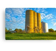 Silo's at Dookie Town! Canvas Print