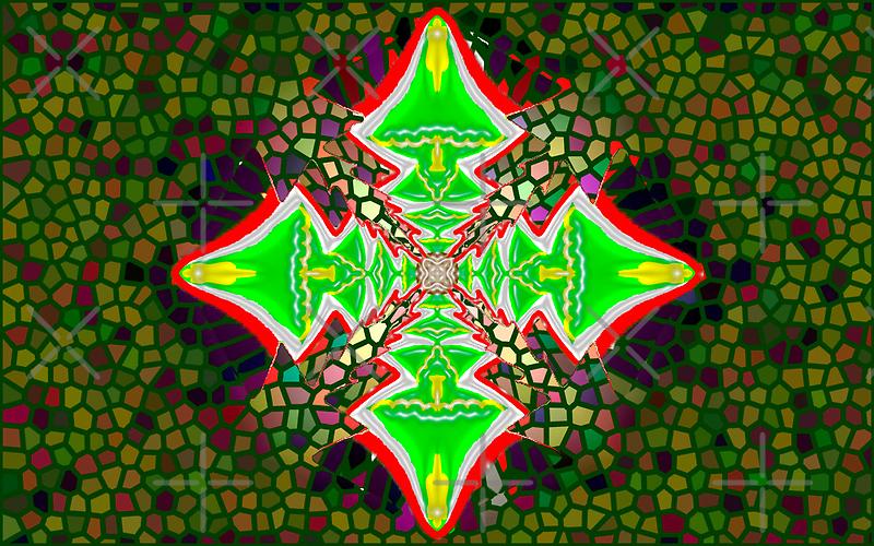 Digital Tree Star 1 by KazM