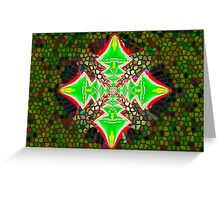 Digital Tree Star 1 Greeting Card