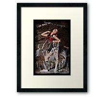 Gunna be a Dancer too! Framed Print