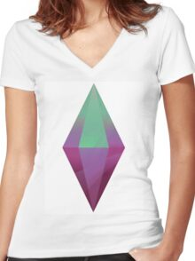 The Sims 4  Women's Fitted V-Neck T-Shirt