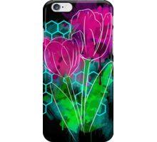 Neon Watercolor Tulip iPhone Case/Skin