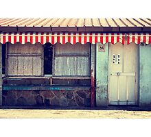 Red striped tent Photographic Print
