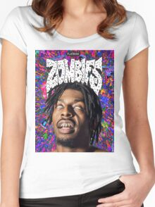 FBZ Purple Poster Women's Fitted Scoop T-Shirt
