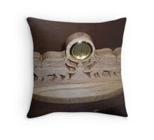 Double gargoyle mini desk clock Throw Pillow