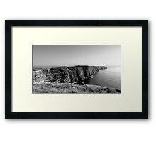 Cliffs of Moher - Black & White Framed Print