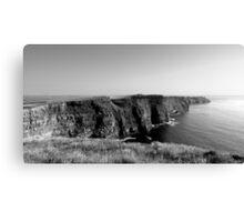 Cliffs of Moher - Black & White Canvas Print