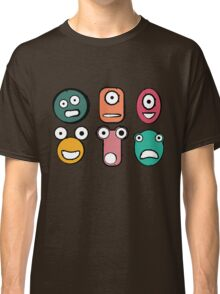 Funny monster characters faces Classic T-Shirt
