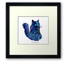 The Fluffy Cat Framed Print