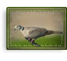 Peace: a beautiful word in any language Canvas Print