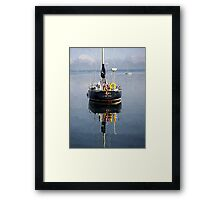 Swift Mooring at Sea Cliff Framed Print