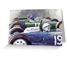 Datch GP 1962 Lola BRM Lotus Greeting Card