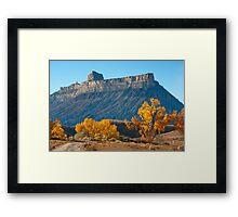 Battleship Butte, Book Cliffs Framed Print