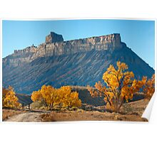 Battleship Butte, Book Cliffs Poster