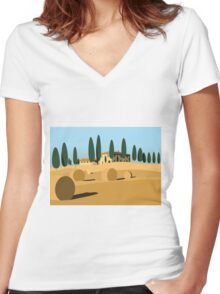 A trip to Tuscany Women's Fitted V-Neck T-Shirt