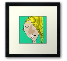 The sad blonde boy Framed Print
