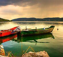 Boats in Sunset... by Tania Koleska