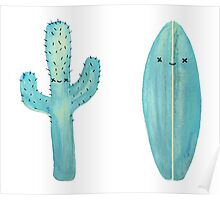 How's the Surf? It's Cactus Poster