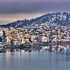 Kastoria with snow... by Tania Koleska