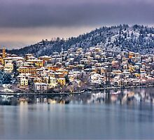 Kastoria with snow... by Tania Koleska