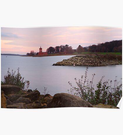 Sunset, Rutland Water. Poster