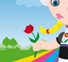 Dutch girl Sticker