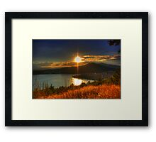 Sunset time... Framed Print